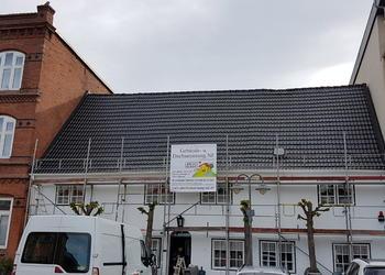 neu beschichtetes Dach